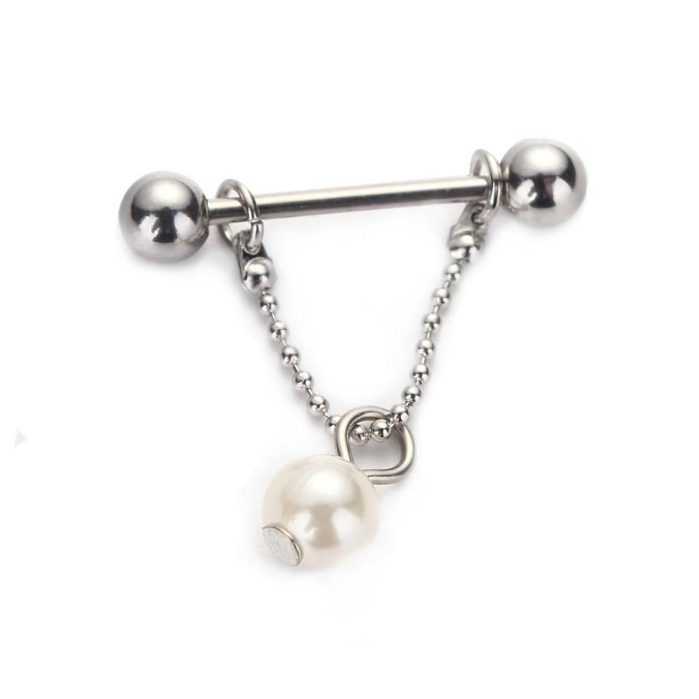 Stainless Steel Pearl Nipple Ring Piercing Shield Bar Ring 16g Body Jewelry  Pin 1.2mm Pearl Nipple Ring Dangle Nipple Piercing Nipple Shield Online  with ... 83c1274315c6