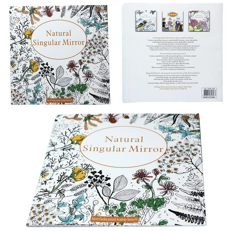 New Secret Garden Series Natural Singular Mirror Coloring Book Of Kids Adults For Young Adult Relieve Stress Graffiti Painting Drawing