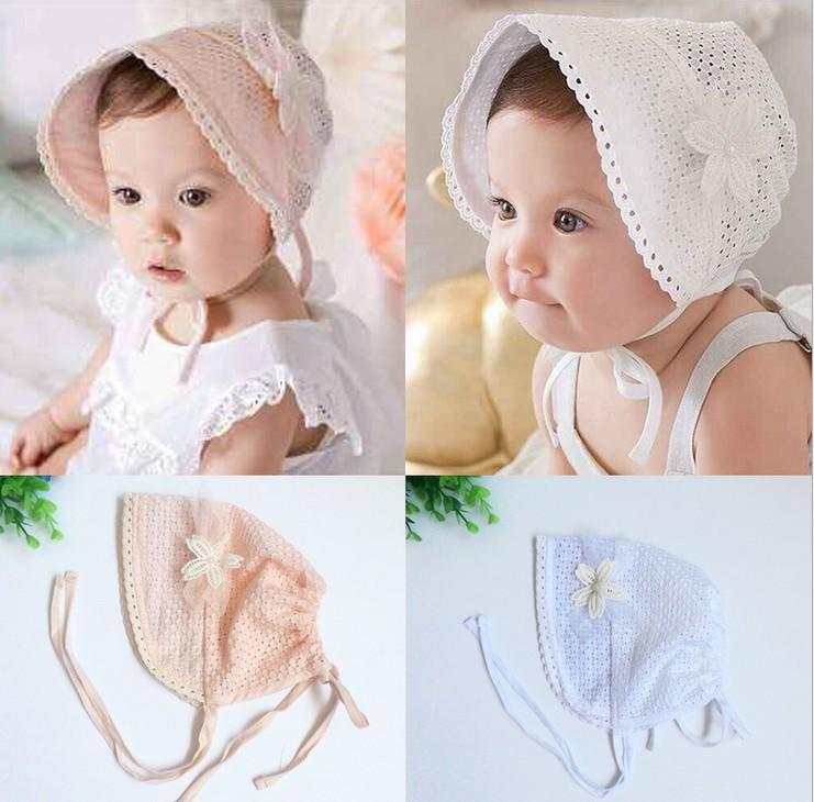 2016 Kids Pure Cotton Hats Infant Baby Girls Lace Flower Children Fashion  Vintage Palace Style Hats Summer Baby Caps K7148 Canada 2019 From  Star baby 7eb7c0ea897