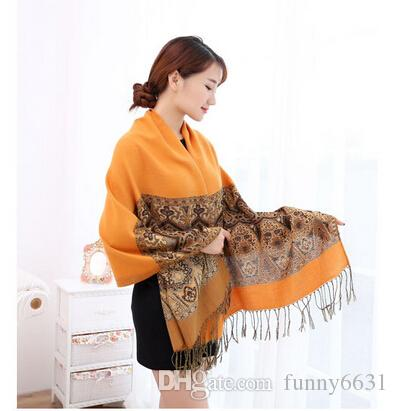 autumn winter new fashion woman National Cotton and linen tassel scarf ladies keep warm scarf sunscreen 180cm