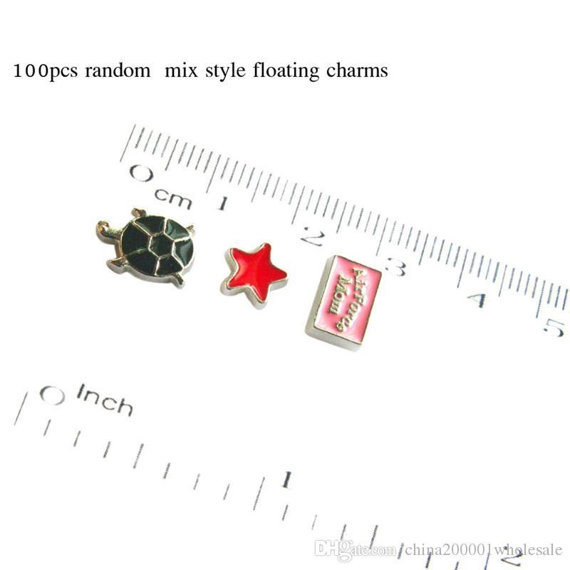 Бесплатная доставка стиль случайного смешивания / много плавающей амулеты памяти Locket подходит для плавающего медальона в качестве подарка