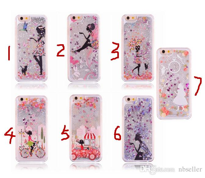 cheap iphone 4 cases for girls glitter bowknot printed liquid 18342