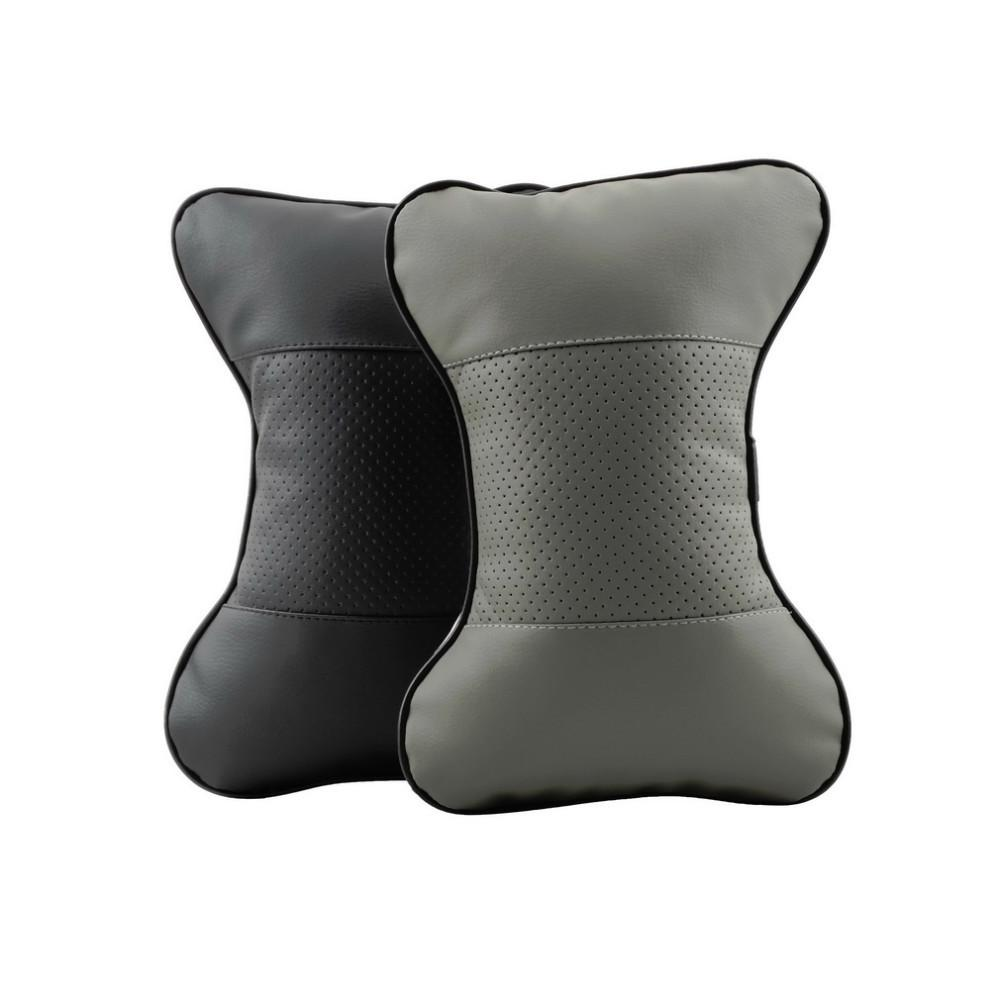 PU leather Warm car seat pillow hole-digging winter car headrest leather auto supplies neck pillow a Auto safety pillow