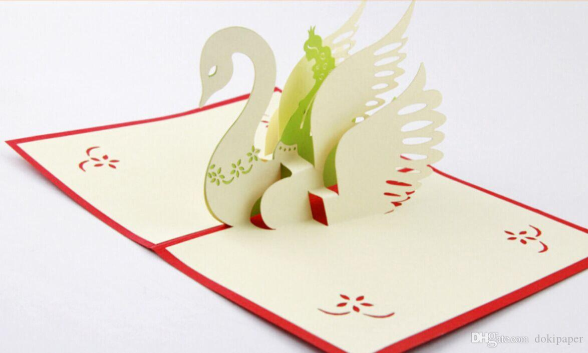 The swan princess pop up card greeting card 3d card fairy card the swan princess pop up card greeting card 3d card fairy card wedding 3d card birthday decoration card online greetings cards order christmas cards from m4hsunfo