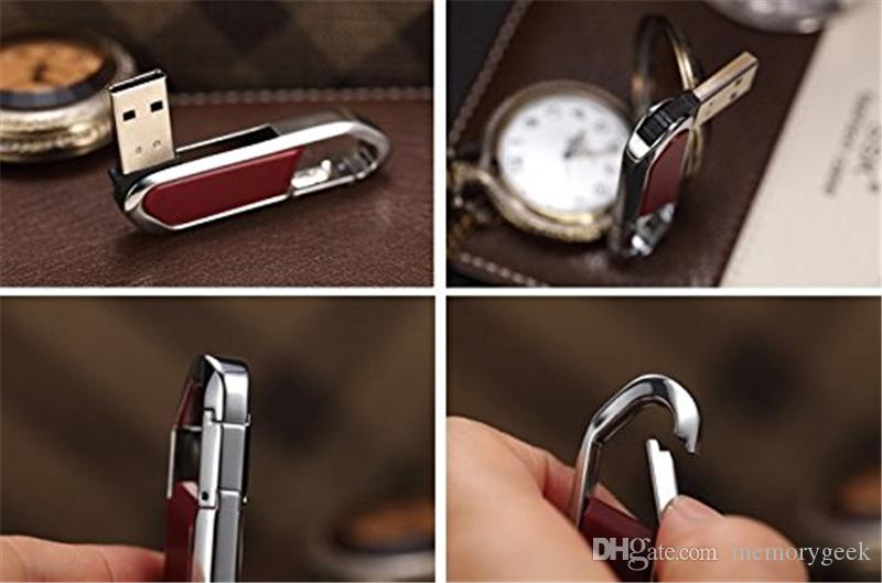 New Leather 64GB 128GB 256GB USB2.0 Flash Drive Stick Pen Memory Stick U Disk Swivel USB Sticks iOS Android retail retail package 01