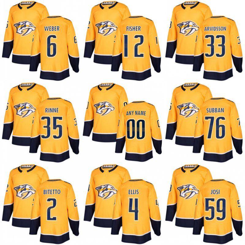 d7469bf1b25 ... 2017 2017 2018 Season Nashville Predators Jersey 76 P.K Subban 12 Mike  Fisher 6 Shea Weber ...