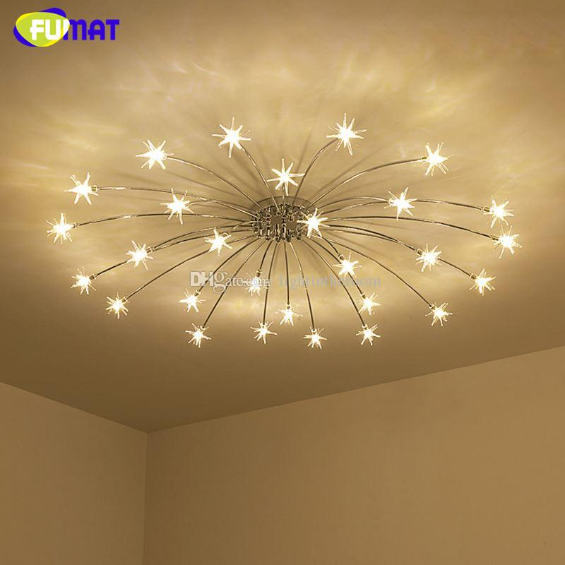 Fumat Modern Round G Led Crystal Glass Stars Ceiling Lights - Star lights bedroom ceiling