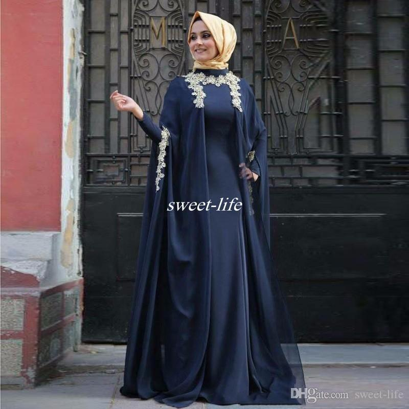 New Design Arabic Evening Dresses Fashion Abaya Dubai Long Sleeve Muslim  Party Prom Gowns 2016 Kaftan Mother Of The Bride Dresses Plus Size Grooms  Mothers ... 8649cb1ff084