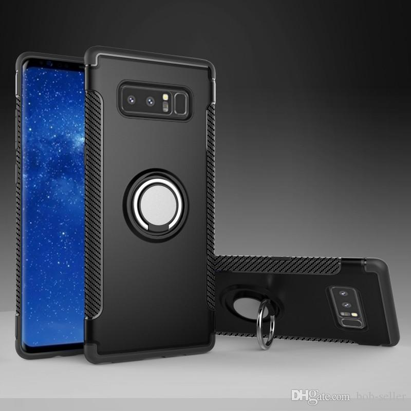 For Samsung note8 S8 S8+ S7 edge for Apple iPhone X 8 7 6S Plus Vehicular magnet Kickstand Shockproof Armor cell phone cases