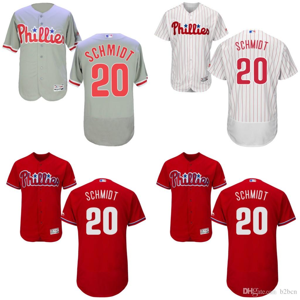638e086ed ... canada 2017 2016 flexbase philadelphia phillies jersey 20 mike schmidt  jersey white grey red mens stitched
