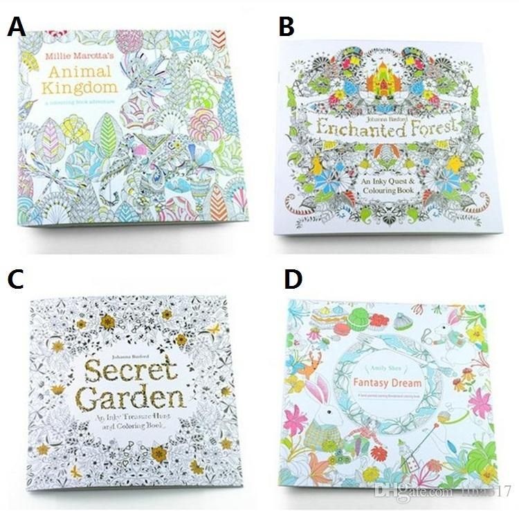 New Secret Garden Coloring Books Animal Kingdom Adult Reducing Stress Drawing Book Diy 1677