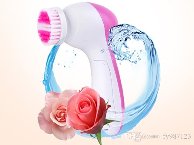 5 in 1 Multifunction Electrical Facial Cleansing Brush Spa Operated Kit face care massager