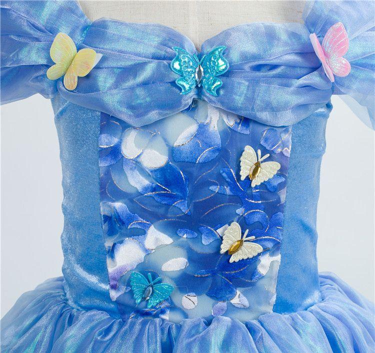 Cinderella Princess Dress Children Dresses Girl Butterfly Dress Summer Dresses Lace Dresses Party Dress Kids Clothing Cosplay Costume