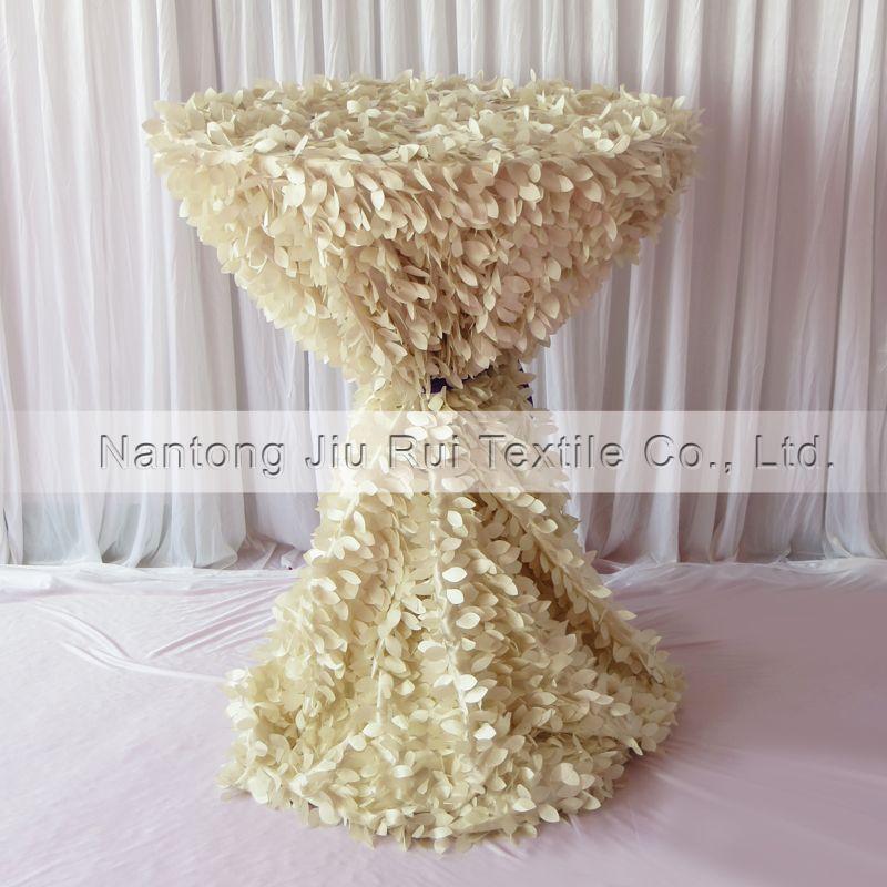 3d Ruffled Cream Leaf Shape Taffeta Table Cloth 132u0027u0027 Round For 80cm  Cocktail Cover Decoration 70 Round Tablecloth 60 Round Tablecloths From  Youyou845201, ...