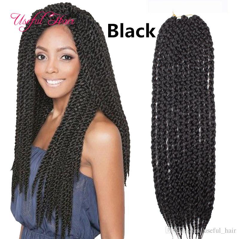 22inch tresse en faisceaux 3D Cubic twist crochet crochet tresses cheveux 120g extensions de cheveux au crochet cubique ombre tressage cheveux pour noir wome box tresses