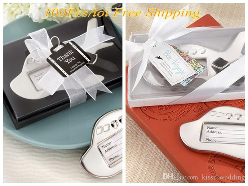 Honeymoon Travel Themed Wedding Favors Of Airplane Luggage Tag In