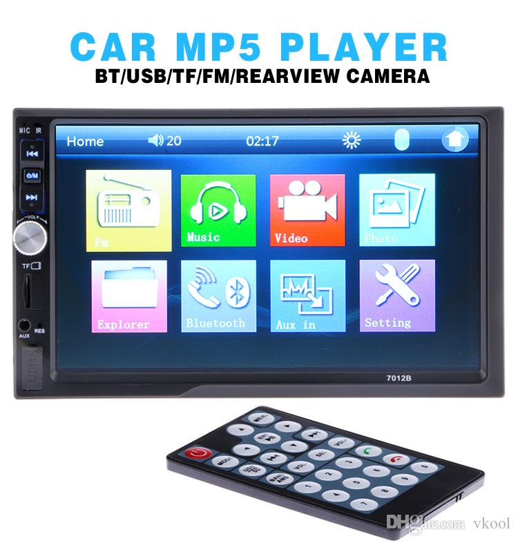 "7"" Universal 2 Din HD Car DVD Player Touch Screen Bluetooth USB/TF FM Aux AutoRadio Multimedia player Rear View Camera"
