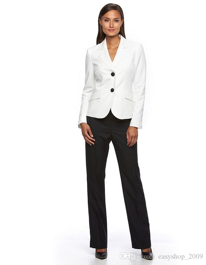f836a834d27 Autumn And Winter Formal Women Business Suits with Pants + Jacket Sets  Ladies Office Uniform Styles OL Pantsuits Female Business Suit Women s Two  Piece Sets ...