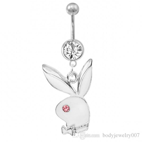 D0233-1 retail  nice styles Belly Button Navel Rings Body Piercing Jewelry Dangle Accessories Fashion belly pendant Charm Rabbit