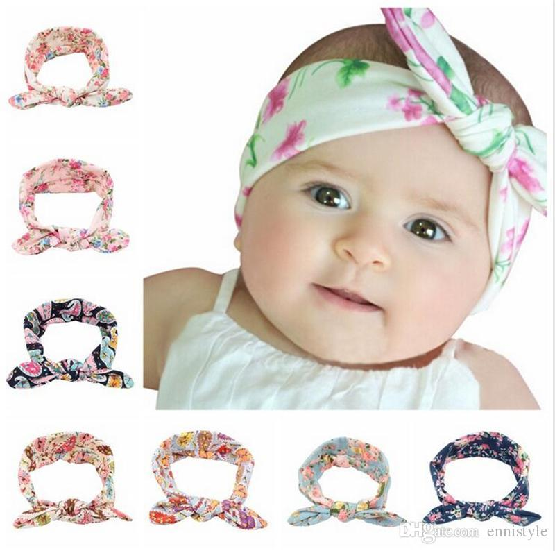 Baby Headbands Accessories Kids Bunny Ear Turban Knot Headbands Bows ... 62ad7f072630