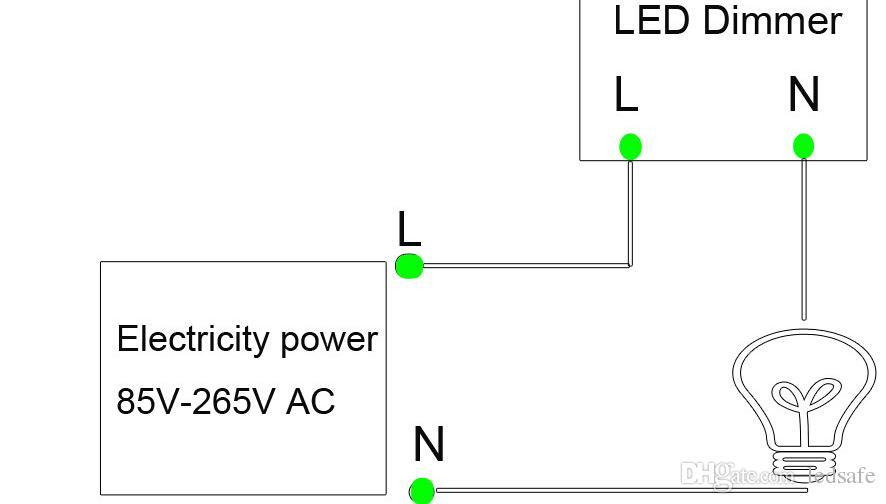 Триак пульт дистанционного LED диммер 110 В 220 В Настенное крепление с пультом дистанционного управления 300 Вт для светодиодные лампы лампы регулируемая яркость CE ROSH FCC