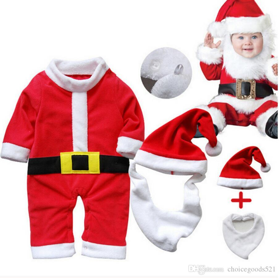 611f55f41ebd 2019 Christmas Baby Rompers Baby Santa Claus Romper Infant One Piece ...
