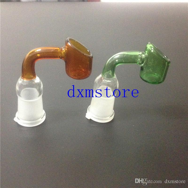 neue 90 grad Pyrexglasölbrennerrohrklarglasölbrennerglasrohrglasrohrölnagel