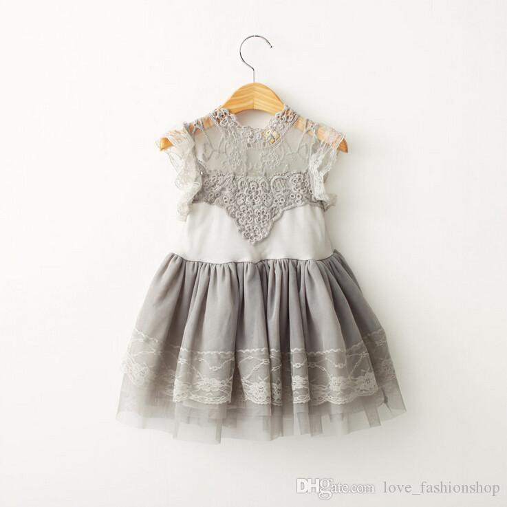 2019 2019 Little Girls Clothing Summer Cotton Lace Princess Dress
