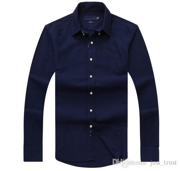 Nouveaux ventes Chermo-douane Cadre Casual Chemises occasionnelles Populaire Broderie Golf Business Polo Chemises Homme À Manches Longues Vêtements
