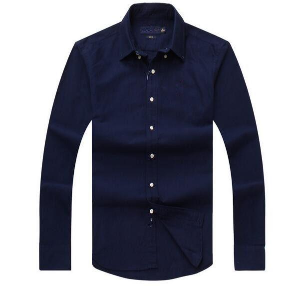 Nuove vendite Famous Customs Fit Casual Shirts Popular Golf Embroidery Business Polo Shirts Abbigliamento manica lunga da uomo
