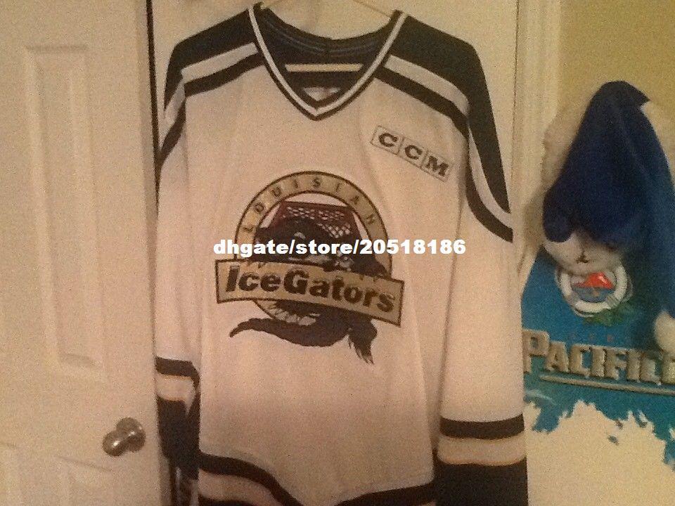 Cheap Custom Louisiana Ice Gators Jerseys SPHL ECHL CHL Rare Vintage  Stitched Men S Hockey Jersey UK 2019 From Nfljersey1 f6488e3e66f