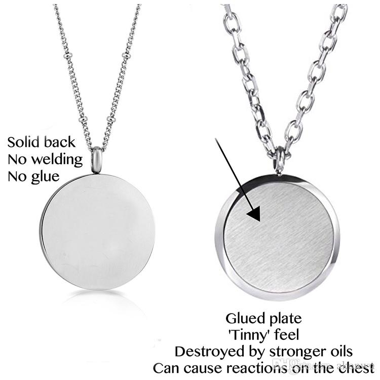 New Arrival Aromatherapy Essential Oil Diffuser Necklace~Pendant Scents 316I Stainless Steel Locket Jewelry Gift Set on 22 Inch Chain