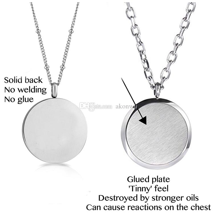 New Arrival Stainless Steel Cage Clover Aromatherapy Essential Oil Diffuser Perfume Necklace Carved Locket Pendant,10 Felt Pads