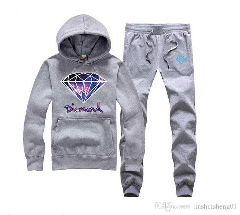 Sale 2017 new Diamond Supply sweat suit male fashion casual sport pullover Men's Clothing Hoodies Sweatshirts