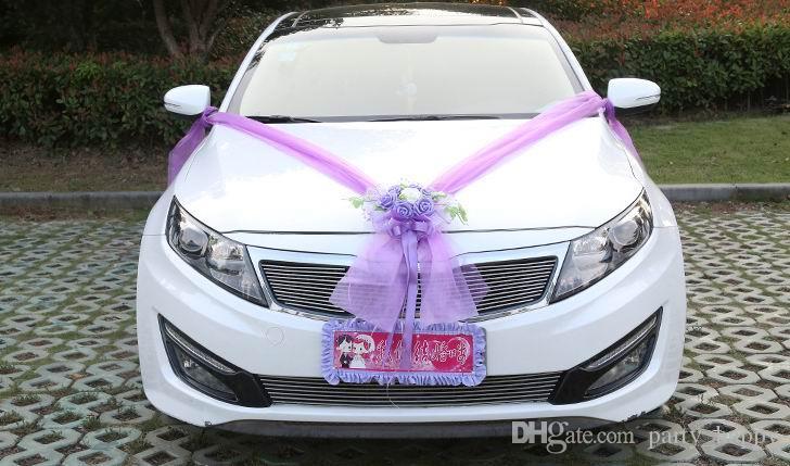 Grosshandel Hochzeit Auto Blume Design Dekoration Kit Hochzeit Auto