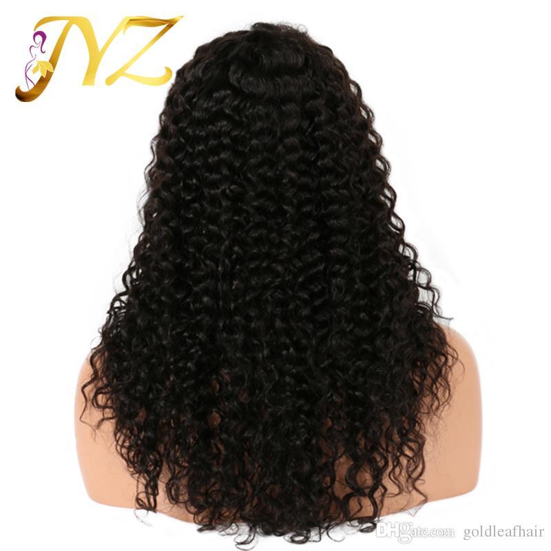 Cheveux Humains Dentelle Perruques Couleur Naturelle Pas Cher Dentelle Avant Perruque Avec Bébé Cheveux Curl perruque de Cheveux Naturel Complet Dentelle Perruques Pour Les Femmes Noires