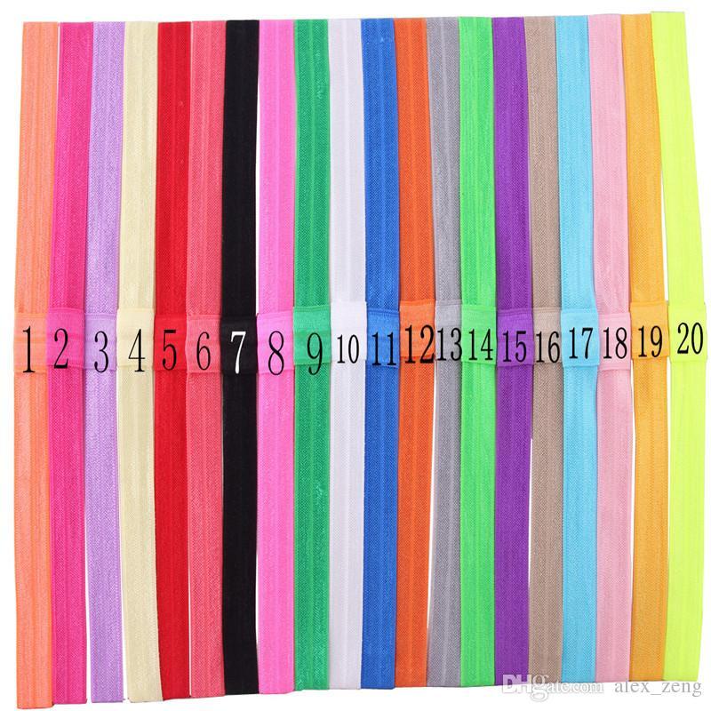 شحن مجاني الفتيات رقيقة عصابات مرنة طفل DIY الشعر الفرقة زينة على نطاق واسع 1.5CM 20 الألوان للاختيار