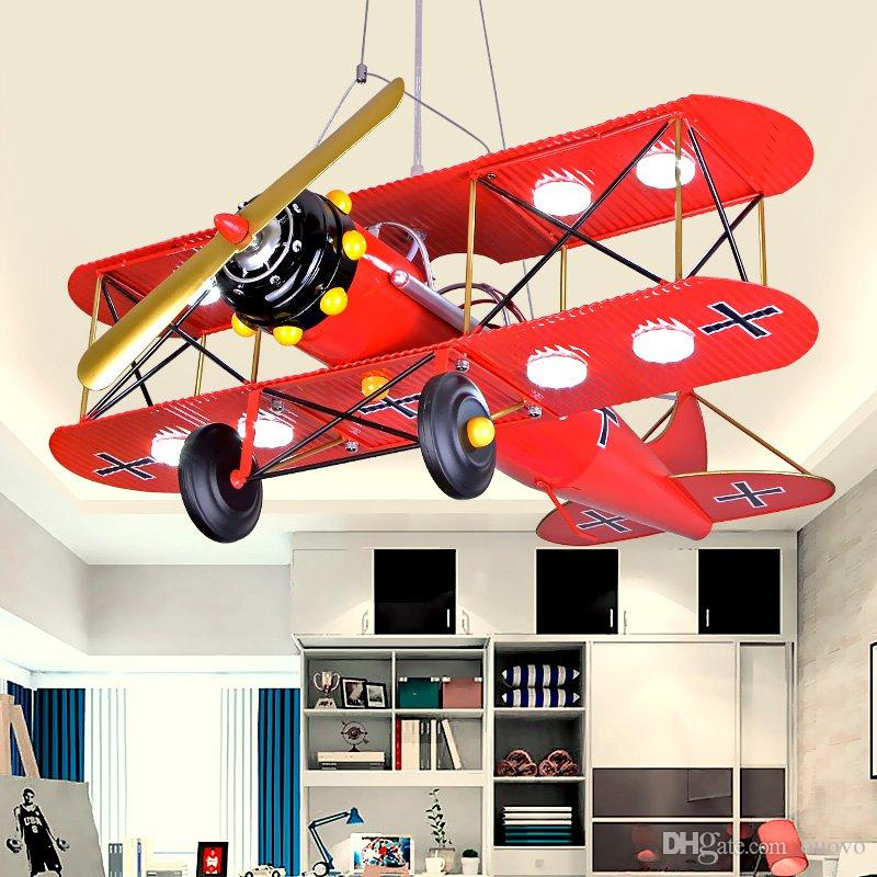 Modern painted metal plane kids bedroom pendant lamp led boys modern painted metal plane kids bedroom pendant lamp led boys study room ceiling lights creative iron helicopter ceiling hanging lamps kid bedroom pendant aloadofball Images