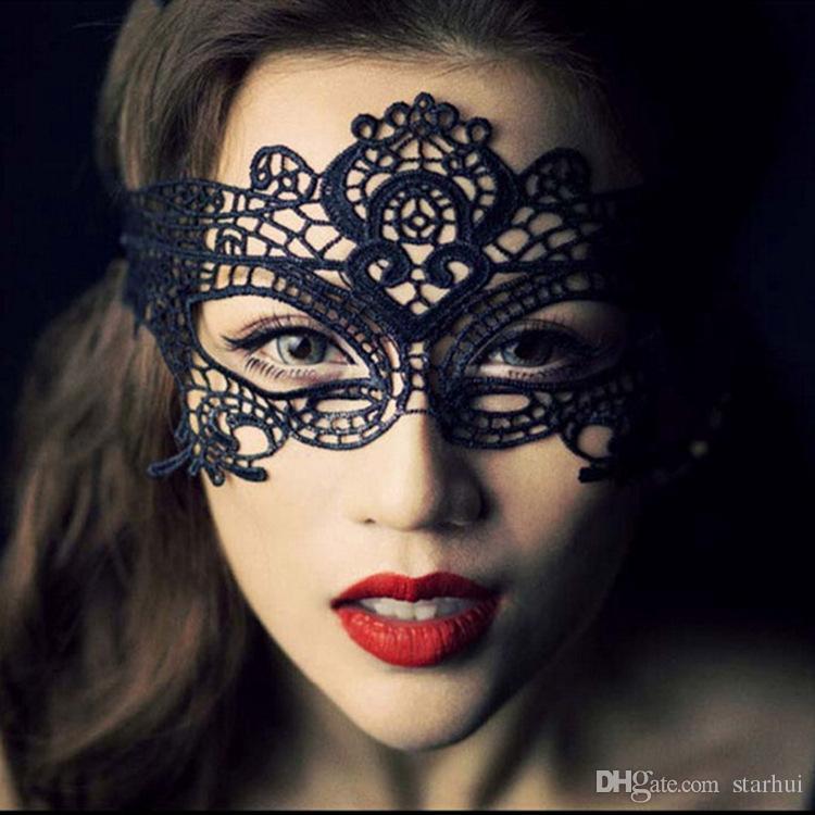 Мода сексуальные кружева ну вечеринку маски женщины дамы девушки хэллоуин рождество косплей костюм маскарад танцы валентинка половина маска для лица WX-M03