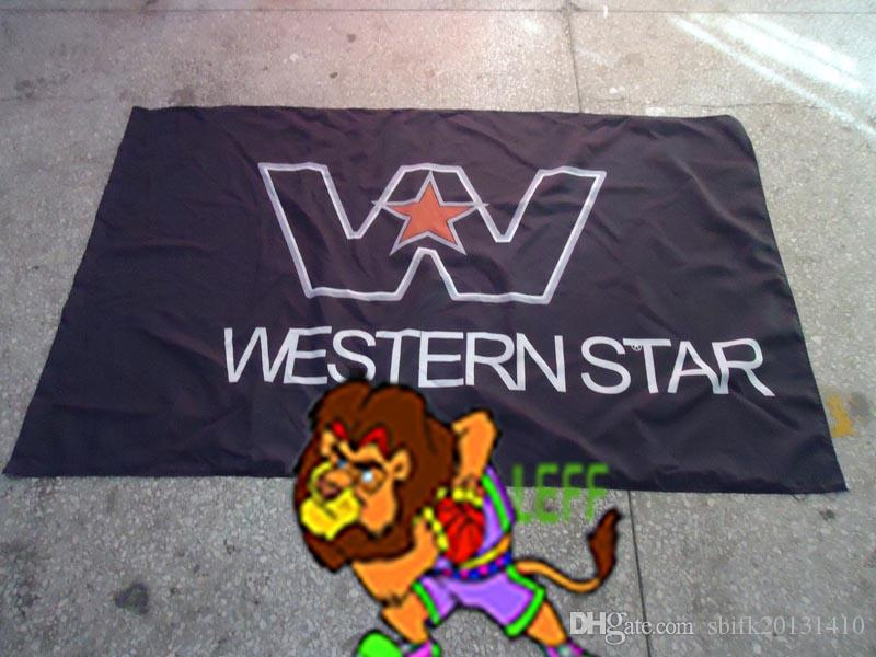 Western Star Trucks Racing flag, Best Nitro ,Electric RC Cars banner, Trucks, Buggy 100% polyster 90*150 CM flag,flag king