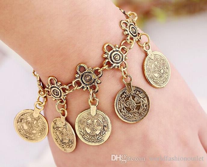 d98adc29e8fe2 ... Kullanımlı Mücevherat Kadınları Altın Gümüş Ayaklı Zincir Bilezik  Bilezik Bağlantısı Romantik Bilezik Halatlar Mücevherat Aksesuarları, $1.37  | DHgate.