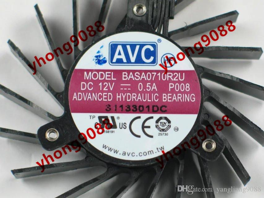 AVC BASA0710R2U, P008 DC 12V 0.5A 4-wire 4-Pin connector 100mm 65x65x13mm Server Round Cooling fan