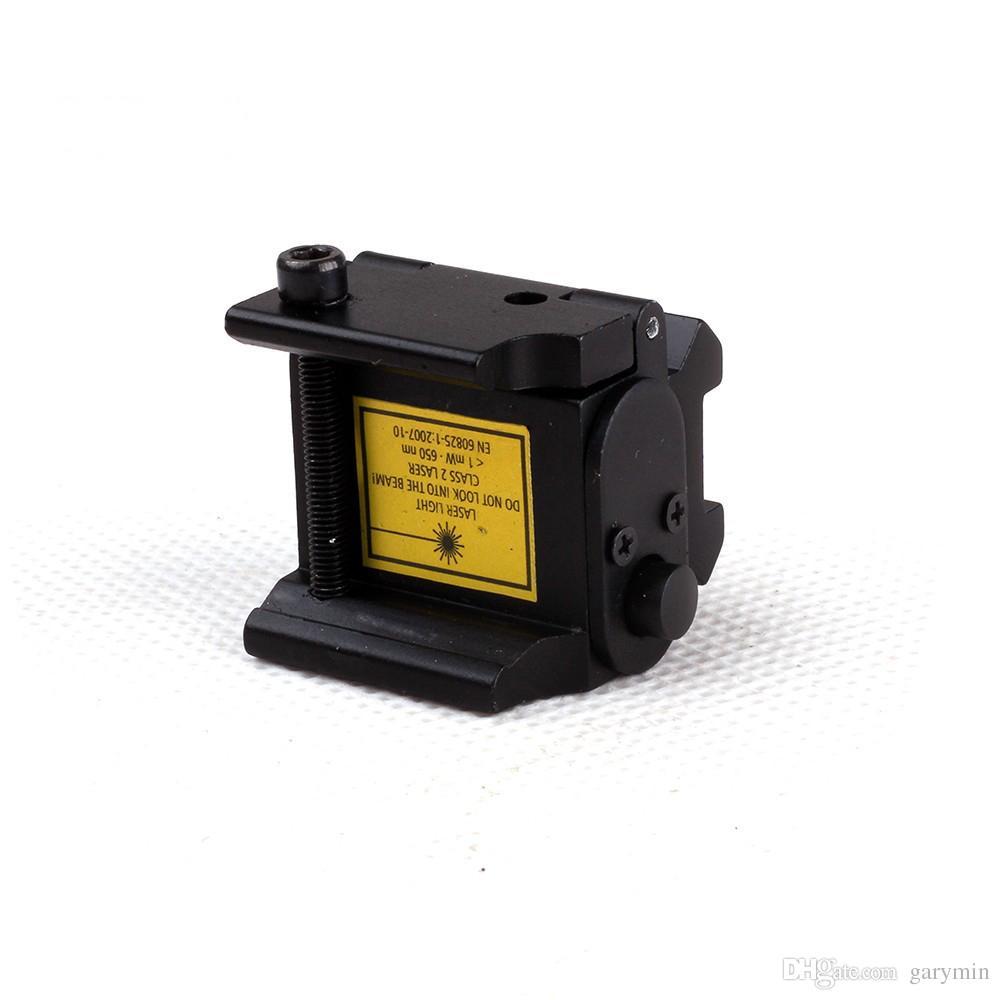 Portée de visée laser réglable mini point tactique rouge ajustable pour pistolet pistolet avec montage sur rail 20mm ht034