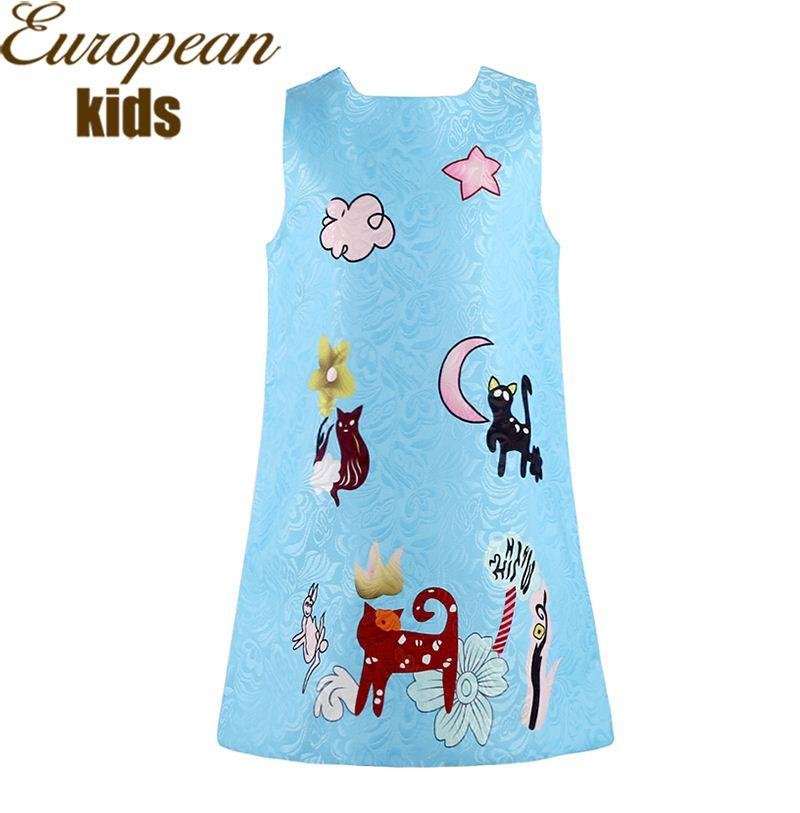 Baby Girl Dress 2016 Brand Designer Kids Clothes Girls Summer Dress  Character Print Princess Dress Dobby Girls Costumes 2 10Y Canada 2018 From  ... 53beed670