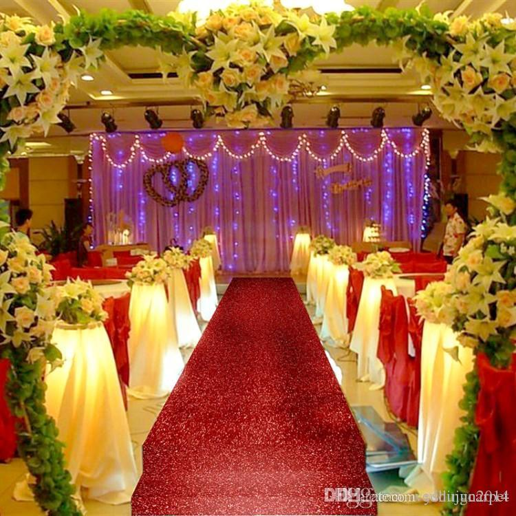 1.2 M Wide X 10 M/Roll Shiny Gold Pearlescent Wedding Carpet Fashion ...