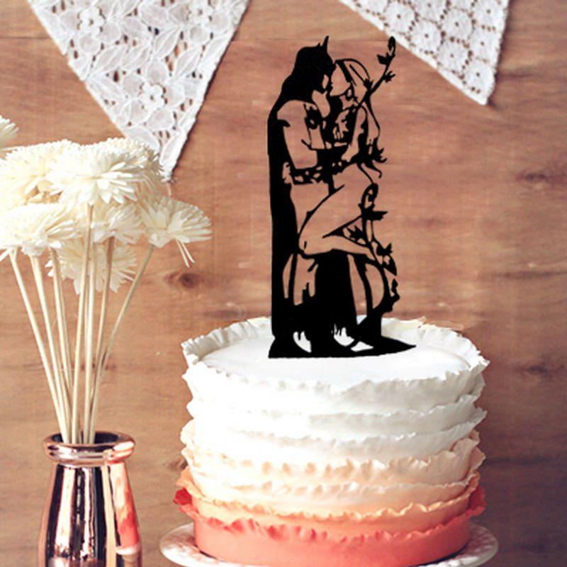 Grosshandel Hochzeitstorte Topper Braut Kuss Wonder Woman Fur