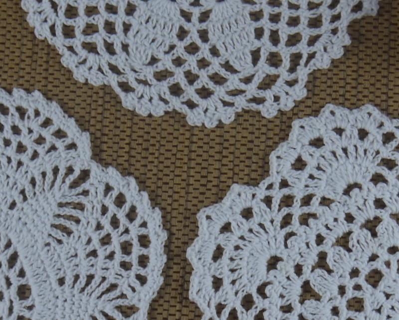 wholesale 100% cotton lace hand made Crochet Doilies cup mat Natural color Round, Square Doily 18-20cm ab3h57