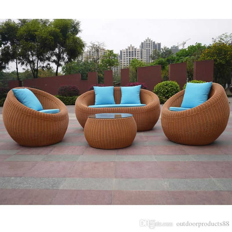 2017 Best Seller Rattan Wicker Chair Sofa Table CombinationPatio