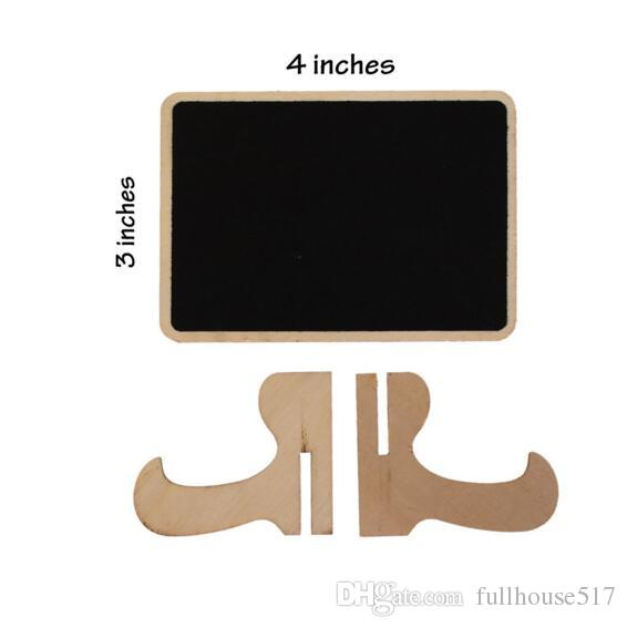 Wood Mini Chalkboard Place Cards Holders Wedding Name Cards With Easel Stand For Wedding Birthday Party Table Numbers Food Signs