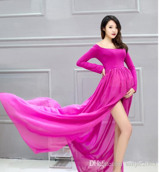 Spring and summer style pregnancy dress for pregnant Maternity maternity dress photography props maternity gown photography